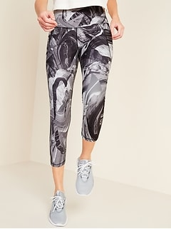 High-Waisted Elevate Powersoft Side-Pocket Crop Leggings for Women