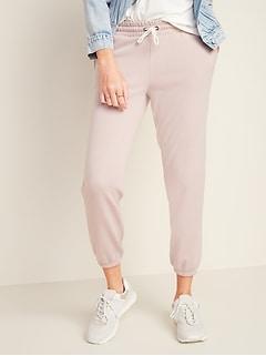 Pantalon d'entraînement à ourlet cintré en tissu éponge pour femme