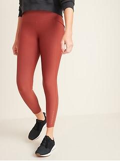 High-Waisted Elevate Powersoft Side-Pocket 7/8-Length Run Leggings for Women