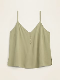 V-Neck Button-Front Cami for Women