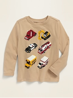 Unisex Long-Sleeve Graphic Tee for Toddlers