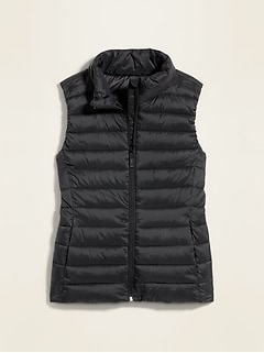 Packable Narrow Channel Puffer Vest for Women