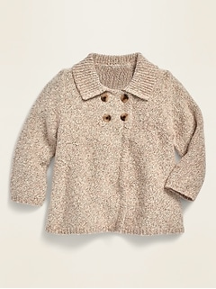 Unisex Button-Front A-Line Cardigan for Baby