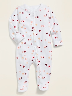 Unisex Printed Footie Pajama One-Piece For Baby