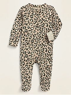 Printed Footie Pajama One-Piece for Baby