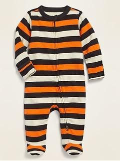 Unisex Halloween Fold-Over Mitten Footie One-Piece for Baby