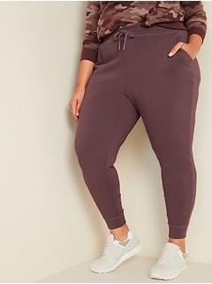 Pantalon d'exercice à jambe fuselée et taille moyenne, Taille forte