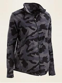 Maternity Go-Warm Performance Fleece Zip-Front Jacket