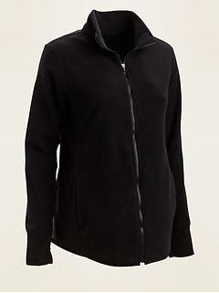 Veste de maternité Go-Warm en molleton Performance Fleece avec fermeture à glissière à l'avant