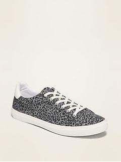 Leopard-Print Court Sneakers for Women