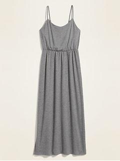 Waist-Defined Slub-Knit Cami Maxi Dress for Women