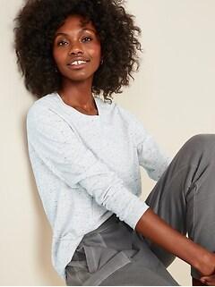 T-shirt ras du cou à manches longues tout-aller pour femme