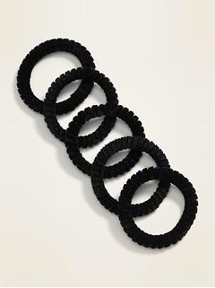 Fines attaches en spirale pour cheveux pour femme (paquet de5)