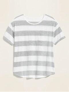 Bold-Stripe Easy Crew-Neck Plus-Size Tee