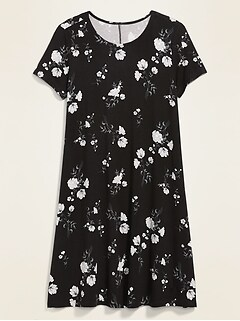 Printed Jersey-Knit Swing Dress for Women