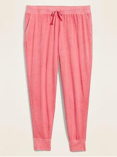 Mid-Rise Lightweight Specially Dyed Jersey Plus-Size Jogger Pants