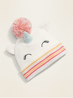 Unicorn-Critter Beanie for Toddler Girls