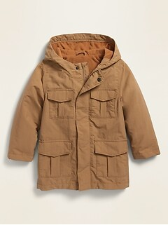 Unisex Micro Fleece-Lined Utility Jacket for Toddler