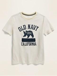 T-shirt à logo à manches courtes pour garçon