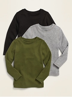 Long-Sleeve Thermal Tee 3-Pack for Toddler Boys
