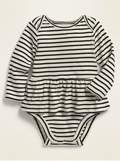 Striped Skirted Rib-Knit Bodysuit for Baby