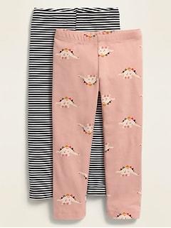 Jersey Full-Length Leggings 2-Pack for Toddler Girls