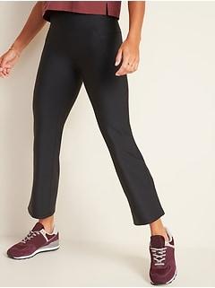 High-Waisted Elevate Powersoft Side-Pocket 7/8-Length Flare Leggings for Women