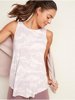 Luxe Botanical-Print High-Neck Tank Top for Women