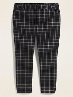 Pantalon Pixie à la cheville à poches Secret amincissant à taille haute, taille Plus
