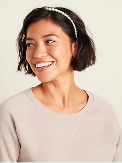 Faux-Pearl Headbands 2-Pack for Women