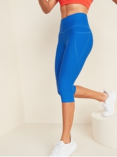 High-Waisted Elevate Powersoft Side-Pocket Ultra-Crop Leggings for Women