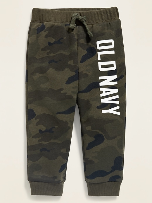 Unisex Logo-Graphic U-Shaped Camo Joggers for Baby