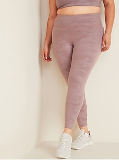 Legging sculptant mi-long à taille haute, taille Plus