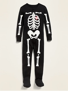 Glow-in-the-Dark Halloween Footed One-Piece Pajamas for Toddler & Baby