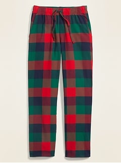 Plaid Flannel Pajama Pants for Men