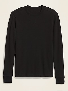 Thermal-Knit Long-Sleeve Tee for Men