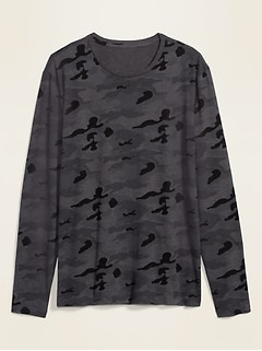 Soft-Washed Camo Long-Sleeve Tee for Men