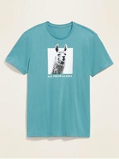 T-shirt ras du cou à imprimé au fini soyeux pour homme