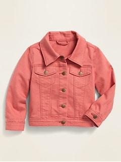 Unisex Pop-Color Twill Trucker Jacket for Toddler