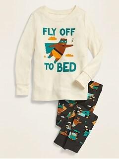 Pyjama à imprimé «Fly Off to Bed» pour tout-petit garçon et bébé