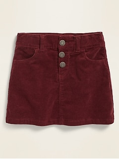 Corduroy Snap-Fly Skirt for Toddler Girls