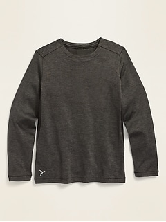 Go-Dry Long-Sleeve Base Layer Tee for Boys