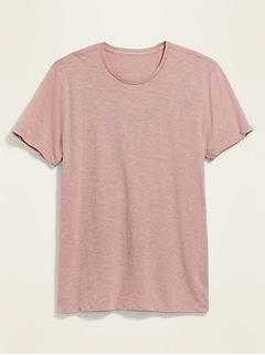 T-shirt ras du cou en fil flammé au fini soyeux pour homme