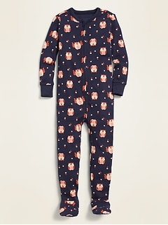Printed One-Piece Footie Pajamas for Toddler & Baby