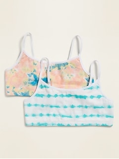 Printed Cami Bra 2-Pack for Girls
