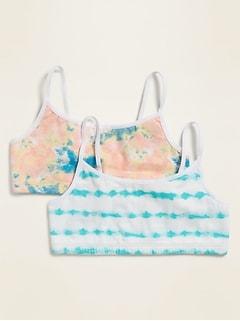 Soutien-gorge camisole à imprimé pour fille (paquet de2)
