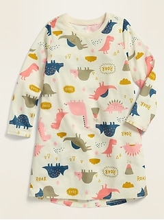 Printed Jersey Nightgown for Toddler Girls & Baby