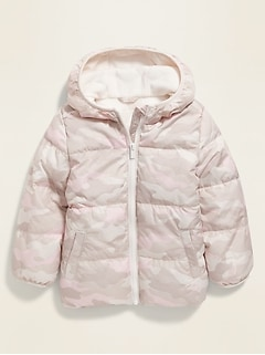 Unisex Camo-Print Frost-Free Puffer Jacket for Toddler