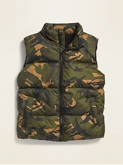 Frost-Free Zip-Front Puffer Vest for Boys