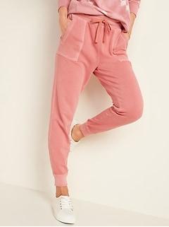 Pantalon d'entraînement teint en pièce à taille haute pour femme